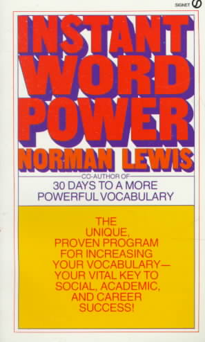 Instant Word Power By Lewis, Norman
